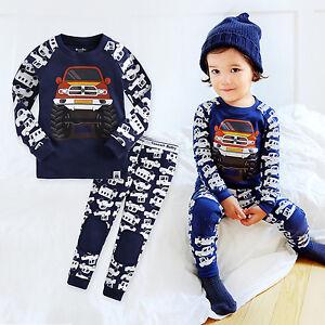 "NWT Vaenait Baby Infant Toddler Kids Boys Clothes Pajama Set /""Fire Truck/"" 12M-7T"