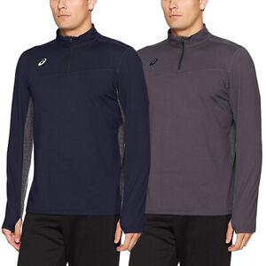 Asics-Sports-Half-Zip-Long-Sleeve-Pullover-Athletic-Men-s-Shirt-Motion-Dry-Tech