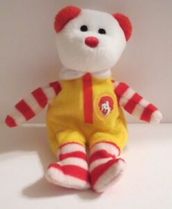 7948849005f TY RONALD McDONALD TEENIE BEANIE BABY BEAR ~ 2004 ~ Limited Edition ...