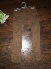 sz 7 Persnickety leggings brown ruffle GUC