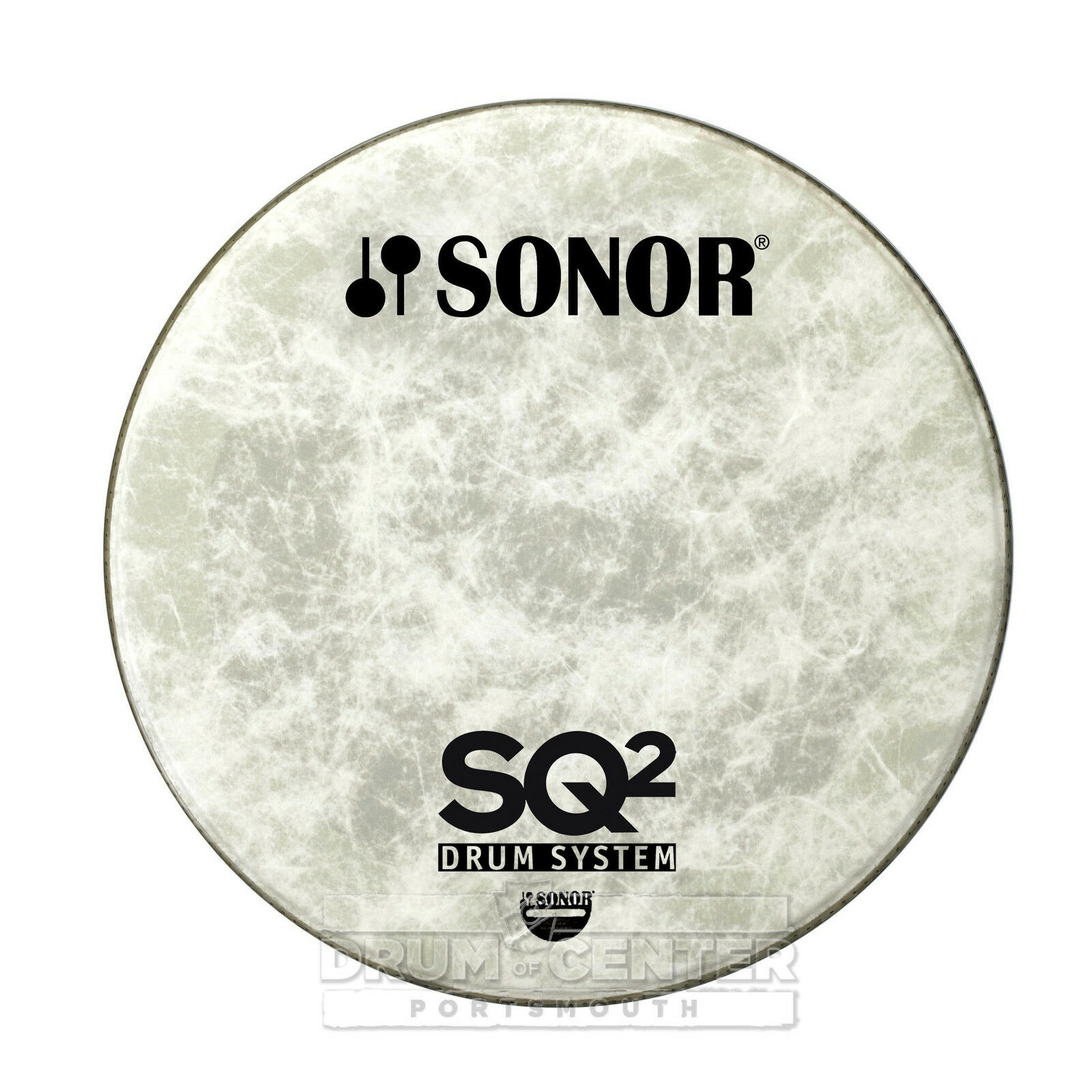 Sonor Bass Drum Logo Head 22  Natural for SQ2 - NP22B LSQ2