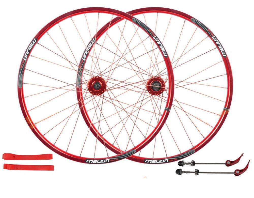 26  MTB Bike Wheelset Wheel Set Rims Disc Brake 8 9 10 Speed ( Incld QR &Liner)