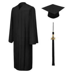 2020 Graduation Cap and Gown with Bling Removable Tassel by SIGNATURE Matte