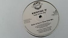 Kristine W - One more try 2 x 12'' UK Promo Vinyl