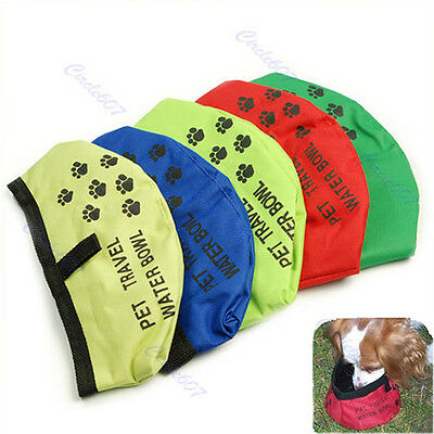 Pet Dog Feeding Foldable Portable Outdoor Travel Water Bowl Drinking Food Puppy