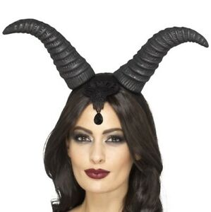 Halloween-Fancy-Dress-Demonic-Queen-Horns-Black-Maleficent-Type-Horns-by-Smiffys