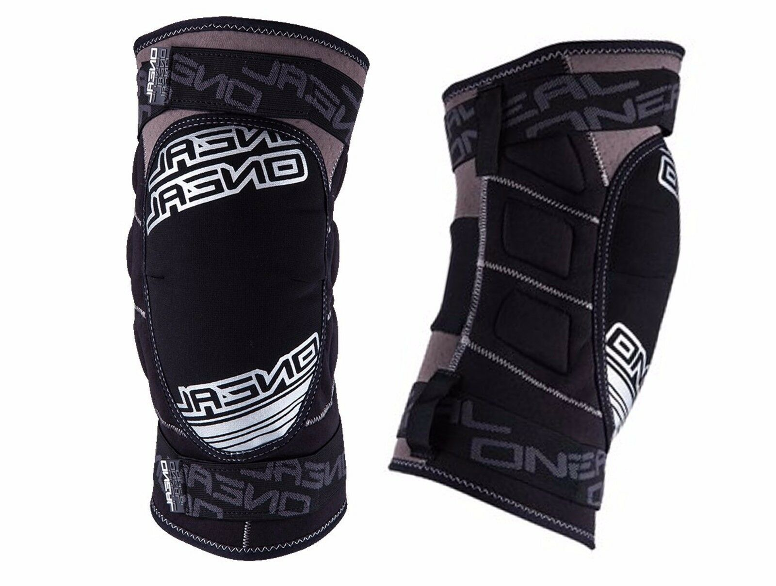 O'Neal Sinner Comfort Straps Cycling Knee Guard Prossoection grigio Dimensione XL