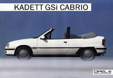 OPEL KADETT CABRIO Cabriolet GSi E Prospekt Sheet 1985 +++++++++++++++++++++++++