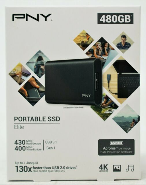 PNY Elite 480GB, Etxternal (PSD1CS1050480FFS) Hard Drive