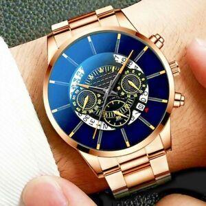 Mens Watch Army Military Stainless Steel Wrist Watch Quartz Date Analog Luxury