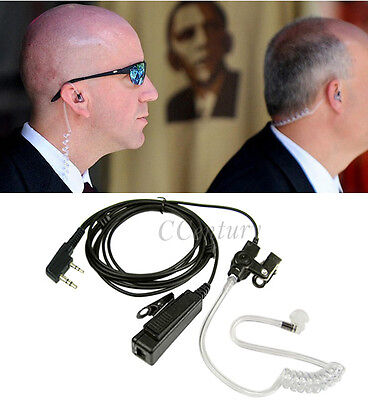 FBI Surveillance Earpiece Headset 2 Pin for Wouxun KG-UVD1P KG-UV6D KG-UV8D