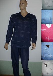 Herren-Schlafanzug-lang-Pyjama-M-XXXL-versch-Farben