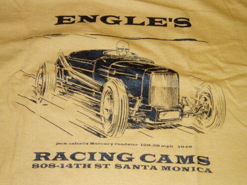 Hommes T Shirt Engles Hot Rod Ford Roadster Salt Flats modèle un Old Gold Tan