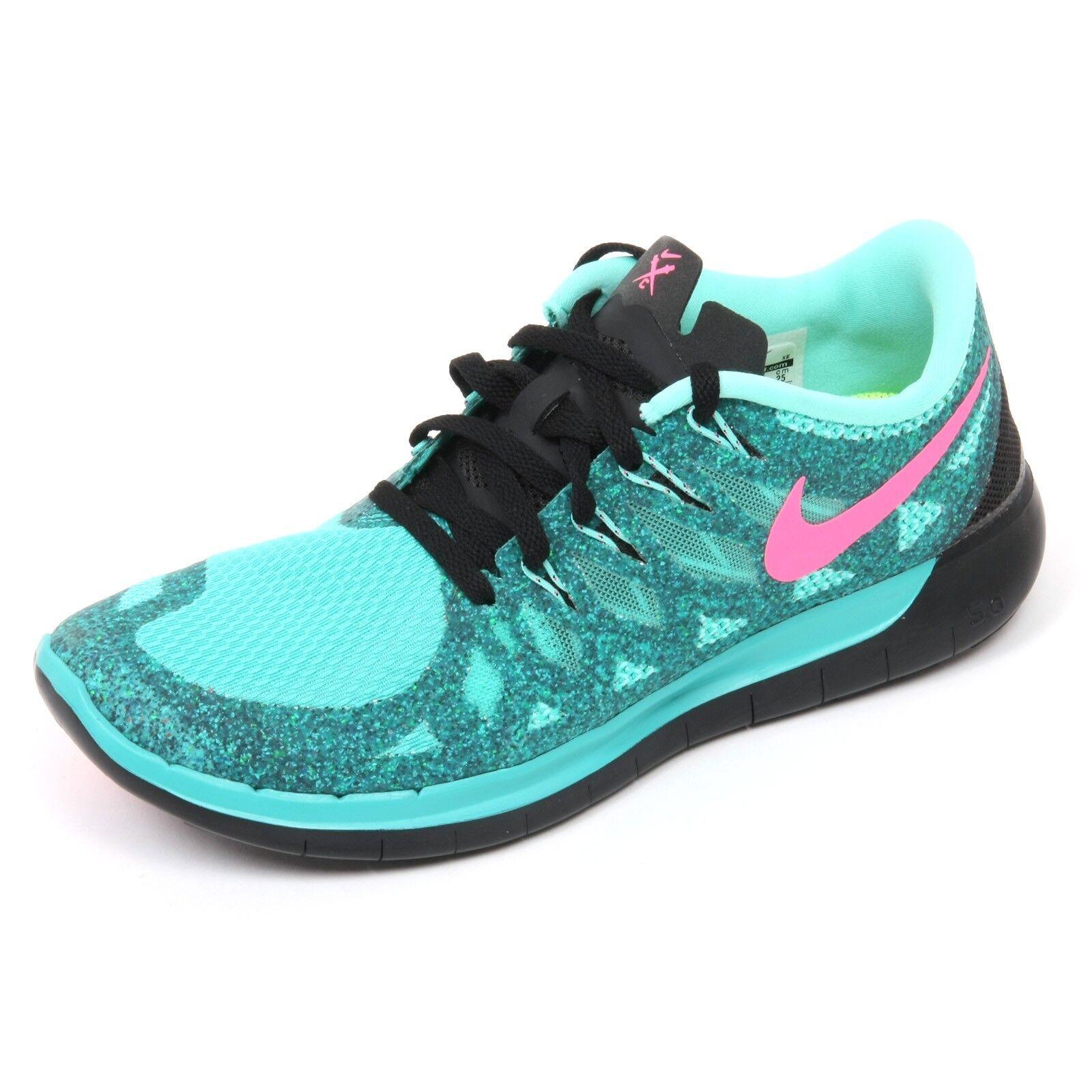Zapatos promocionales para hombres y mujeres C5958 sneaker donna NIKE FREE 5.0 scarpa verde acqua/nero shoe woman