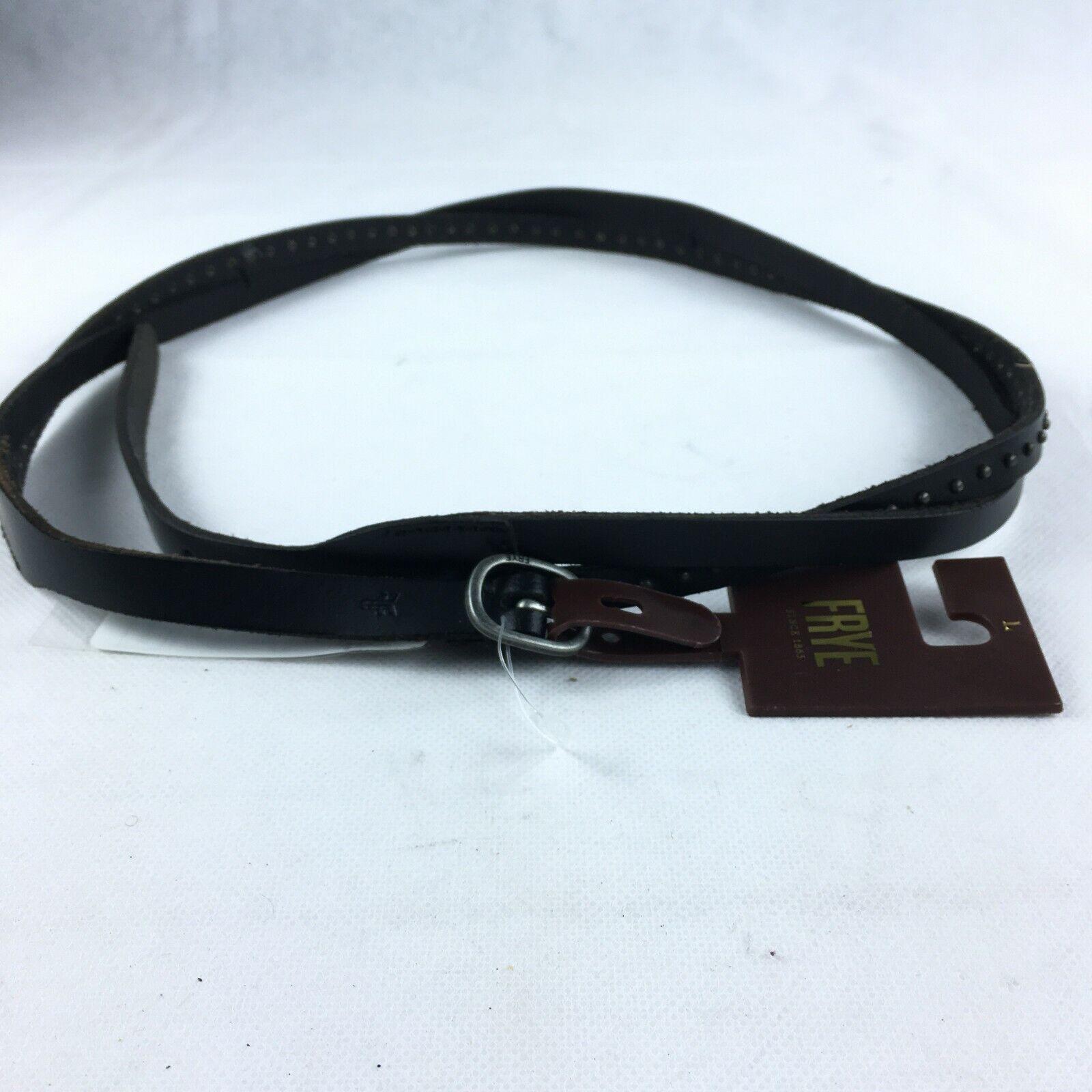 Frye Womens Brown Studded Double Wrap Leather Belt Sz L NWT