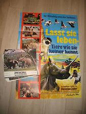 Lasst sie leben tiere wie sie keiner kennt  24 AUSHANGFOTOS Plakat A1 Laissez-le
