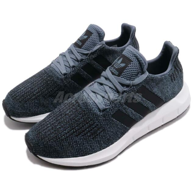 1e8e57545ce8b adidas Swift Run Raw Steel Navy Black Men Running Shoes Sneakers CQ2120
