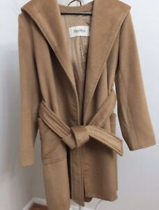 88d72b7f982 Image is loading MAX-MARA-Rialto-Hooded-Camel-Hair-Coat-US-