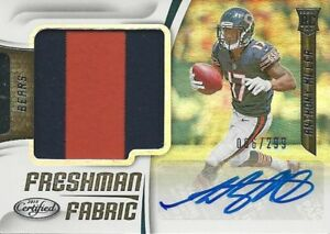 buy popular 9df47 02f12 Details about 2018 Panini Certified Anthony Miller RC AUTO JERSEY #/299  Chicago Bears Memphis