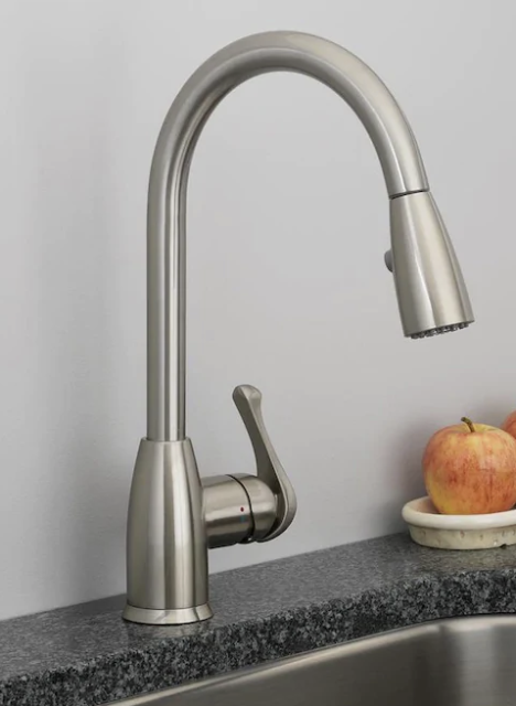Project Source Stainless Steel 1 Handle Deck Mount Pull Down Handle Kitchen F For Sale Online