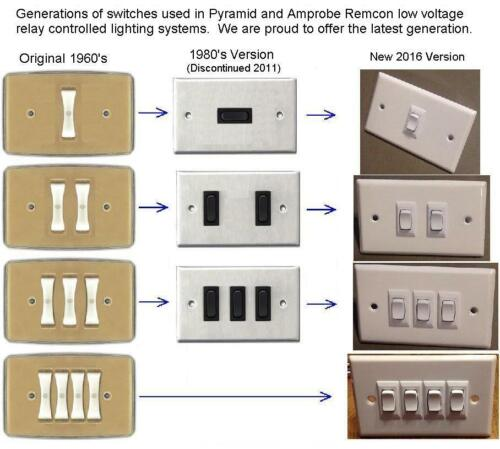 New Replacement for Remcon //Amprobe 1 White Rocker Switch and Wall Plate