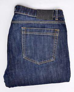 OSCAR-JACOBSON-Straight-Leg-Blue-Jeans-W40-L32-Mens-Denim-Indigo-Trousers-Golf