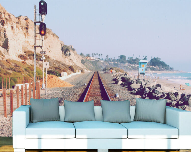 3D Seaside Road Scenery Wall Paper Wall Print Decal Wall Deco Indoor wall Murals