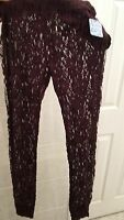 Free People Ladies Lace Leggings Size Small Blackberry Free People Intimate