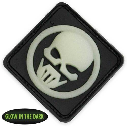 NEW 3D PVC Ghost Recon Military Tactical Airsoft Morale Patch Front Glow Black