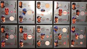 (10) LOT 2002 Fleer Triple Crowns Seasons Crowns Game Used Materials ALL HOFs
