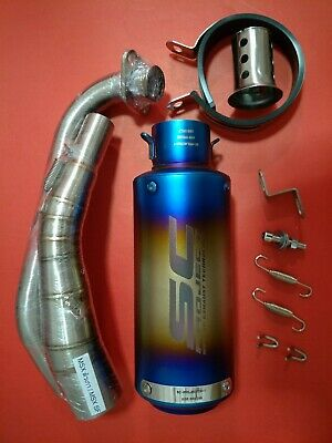 Details about  /Low Mount Exhaust Titanium CR Full system  for Honda Grom MSX125-SF 2013-2020