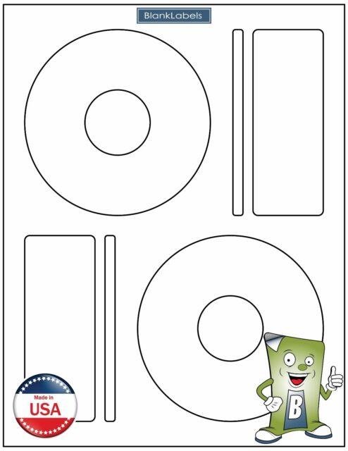 Memorex Compatible CD / DVD Labels Laser Ink Jet Blank White Sheets Large Core