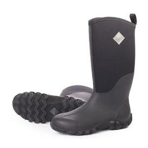 d882698c888 Details about Muck EDGEWATER Hi TALL Boots AUTHENTIC Waterproof Rubber ALL  BLACK Mens 12 NEW