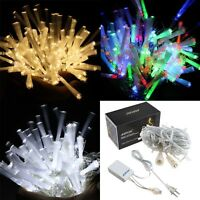 100-700 Led Fairy Fiber Optic String Light For Xmas Party Connectable 8 Model