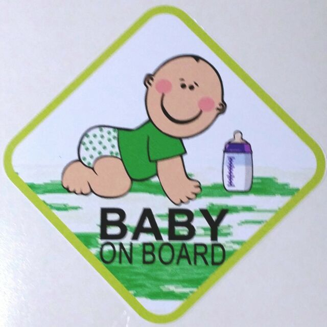 BABY ON BOARD - CUTE - EVERY CAR NEEDS THIS  *** CAR  DECAL / STICKERS