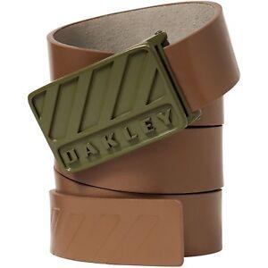 175b42dac4dde Oakley Men s Halifax Leather Belt - Worn Olive (One Size ...