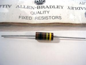ALLEN-BRADLEY-100-OHM-2-watt-5-MIL-SPEC-Carbon-Comp-Resistor-NOS-RCR42G101JS