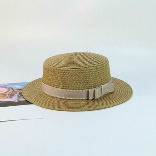 Damen Sommer Strohhut Sun Breite Krempe Matrose Vintage Strand Mode Retro