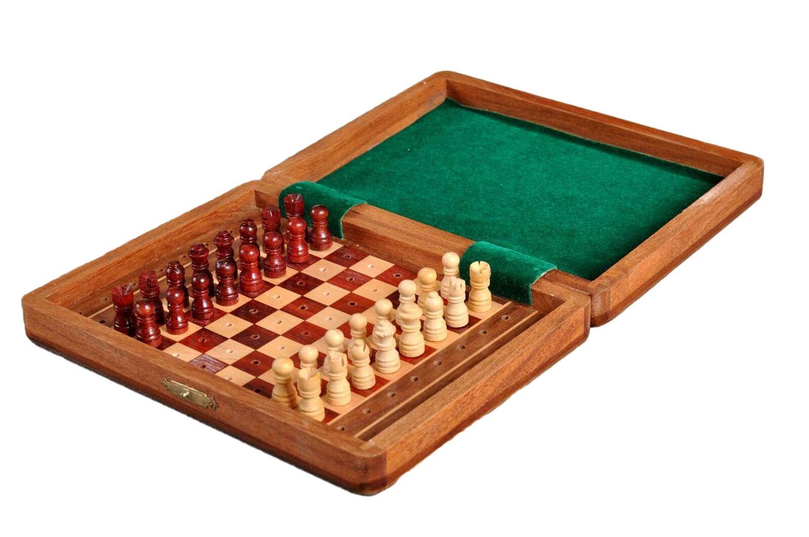 PEG WOODEN Travel Chess Set -  8  x 6   godendo i tuoi acquisti