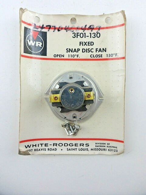 White Rodgers 3F05-1 Adjustable Snap Disc Fan Control 90 to 130 degree F