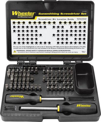 NEW  Wheeler Gunsmithing Screwdriver Kit (72-Piece) 776737