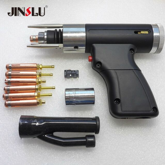 Stud Welding Gun Welding Torch 6Pcs M3 to M10 Co CD 1Pcs Capacitor Discharge