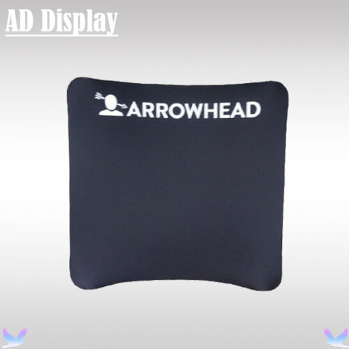 8ft*8ft Curved Exhibition Fabric Display Stand With Single Side Printed Banner
