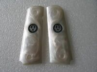 Cool White Pearl Color Resin Grip For 1911 Taurus Sr1911 Beautiful Handmade