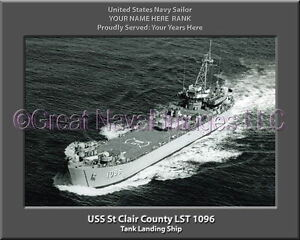 USS LaMoure County LST 1194 Personalized Canvas Ship Photo Print Navy Veteran