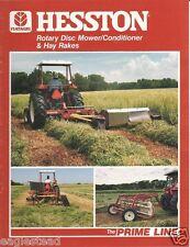 Farm Equipment Brochure - Hesston - Mower Conditioner Hay Rake - 1985 (F1357)