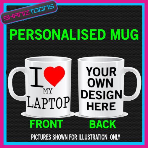I LOVE HEART MY LAPTOP PC COFFEE MUG GIFT