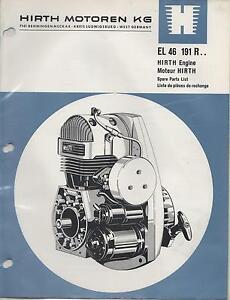 hirth el 46 snowmobile vehicle engine model 191 r spare parts image is loading hirth el 46 snowmobile amp vehicle engine model