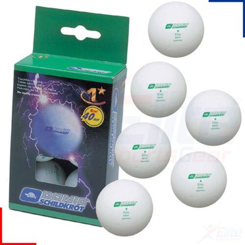 Schildkrot Elite 1 One Star 40mm TT Table Tennis Balls - 6 Pack