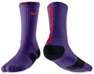 Chimenea fluir nombre  Nike Elite Socks SMALL (Youth sz 4-6) Purple, Red, Black | eBay